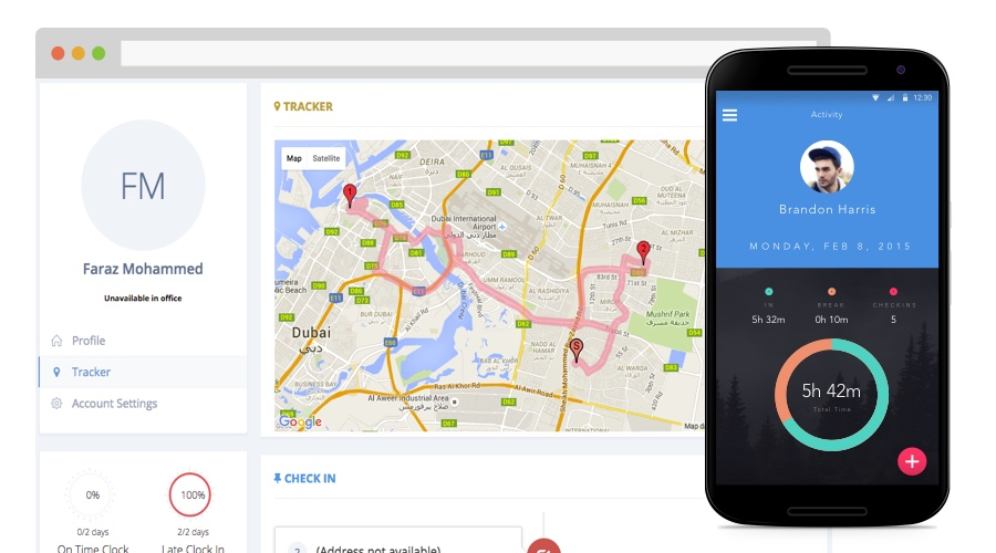 employee tracking android app